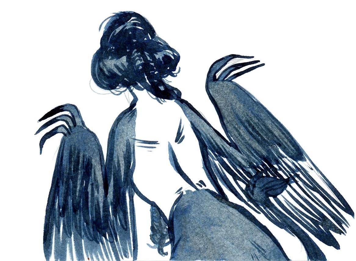 Harpy silhouette